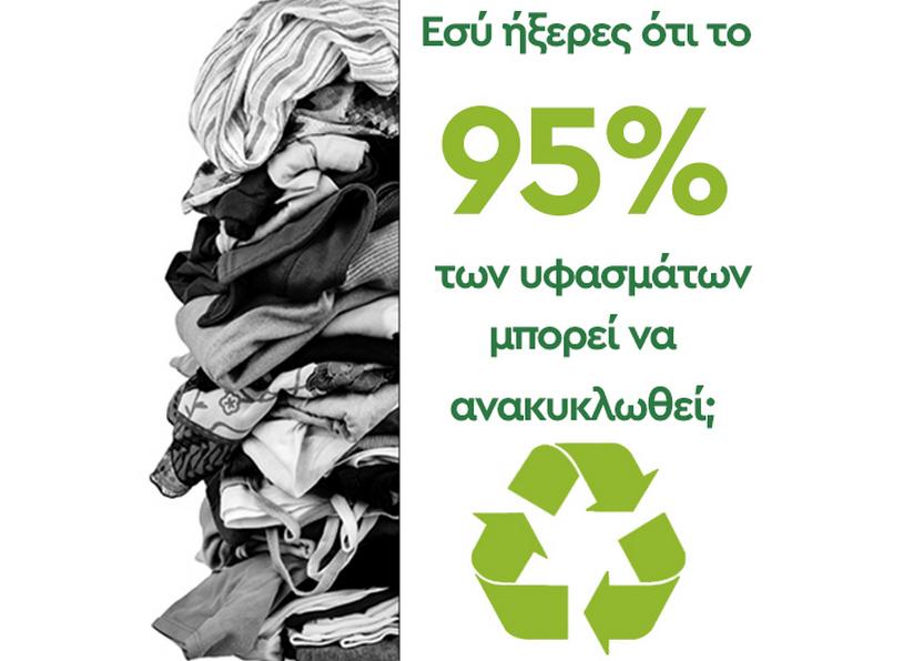 Ανακύκλωση ρούχων. Και τα ξενοδοχεία μπορούν να παίξουν σημαντικό ρόλο